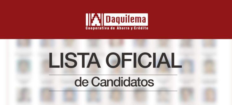 Lista de candidatos