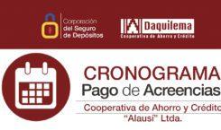 CRONOGRAMA DE PAGOS